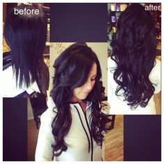 100% European human hair extensions made by SO Cap, before and after done by Andrea Schmelzer at Salon DeLees 585-671-0055