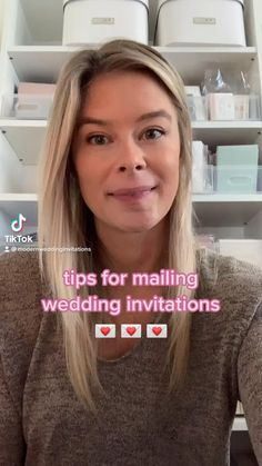 Tips on how to mail wedding invitations easily!