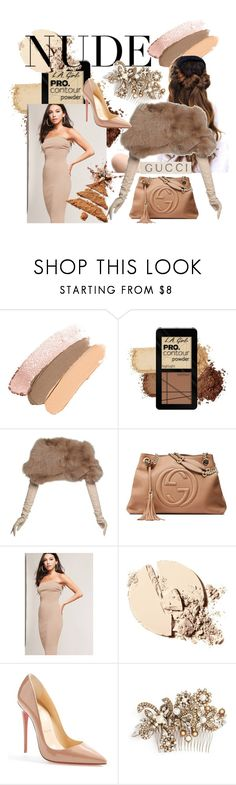 """Get Naked"" by willaaa15 ❤ liked on Polyvore featuring Nina Ricci, Gucci, Forever 21, Christian Louboutin and Erickson Beamon"