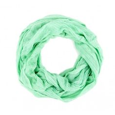 Seafoam green circle scarf