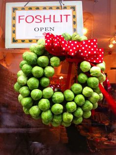 Brussels Sprouts Christmas Wreath.....why? run our of everything else?