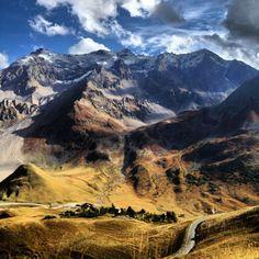 French Alps-dark blue sky