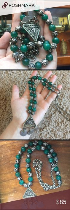 Bedouin Jade & Silver Necklace This is so amazing! Originally from Yemen. Real Jade and silver. It's like having a piece of history on your neck! :) Jewelry Necklaces