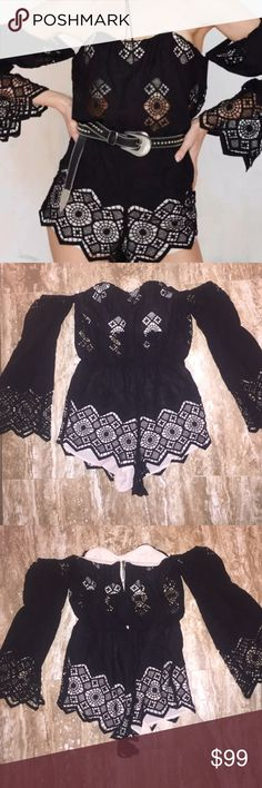 Stone cold fox Aden Romper. Black. Size 3 Perfect shape! Another of my daughters closet clean out! Aden Romper in a size 3. Beautiful Stone Cold Fox Other