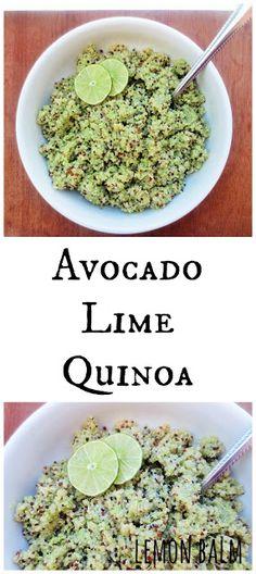 Avocado Lime Quinoa http://macthelm.blogspot.com/ Fresh and healthy ...