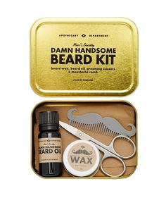 Funny Gifts for Men | If he insists on sticking with the beard, help him keep it tidy and trimmed with this grooming kit.