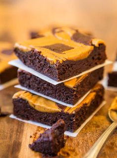 Peanut Butter-Swirled Fudgy Brownies