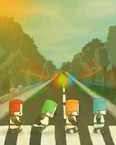 Made by Jesse (me) and Faith Castle Crashers Abbey Road Castle Crashers, Abbey Road, Cave Story, We Happy Few, Green Knight, Fallen London, Skullgirls, Geek Games, Yandere Simulator
