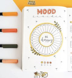 Bullet Journal Yearly Spread, Bullet Journal Mood Tracker Ideas, Creating A Bullet Journal, December Bullet Journal, Bullet Journal Cover Ideas, Bullet Journal Lettering Ideas, Bullet Journal Notebook, Bullet Journal Junkies, Bullet Journal Ideas Pages