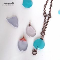 I have been playing with sea glass that I bought in Florida a couple of years back, and I finally had some success with drilling holes for jewelry. I had to break several pieces with my Dremel bef...