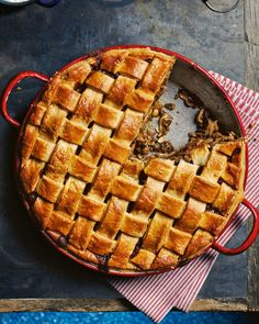 Our chicken and mushroom pie, made with leftover chicken, with its stunning lattice pastry topping, is sure to impress a crowd. Cake Ingredients, Homemade Tacos, Homemade Taco Seasoning, Small Food Processor, Food Processor Recipes, Pie Recipes, Whole Food Recipes, Chicken Recipes