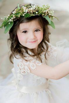 a sweet lace clad flower girl | barbara b covington photography | via: @WeddingWire