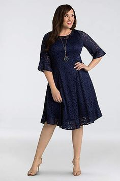 Saman Lace Tea Length Dresses