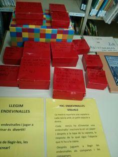 Endevinalles en capses Conte, School, Letter Activities, Reading Comprehension, Initials