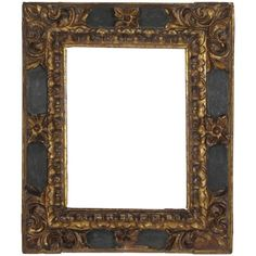 17th Century Spanish Baroque Carved Wood Gold Leaf Frame | From a unique collection of antique and modern picture frames at https://www.1stdibs.com/furniture/decorative-objects/picture-frames/