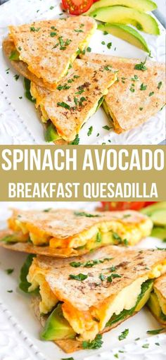 Kick off your day with a Spinach Avocado Breakfast Quesadilla. High on protein and filled with flavor! 238 calories and 4 Weight Watchers SP | Easy | Healthy | Recipes | Vegetarian #breakfastrecipes #vegetarianbreakfasts #smartpoints #quesadillas Healthy Brunch, Vegetarian Breakfast Recipes, Healthy Eating Recipes, Avocado Recipes Vegetarian, Healthy Food, Breakfast Quesadilla, Avocado Breakfast, Blog Food, Onigirazu