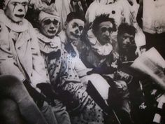 Clowns 1800s...still FREAKY!!!!