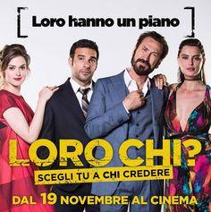 #EdoardoLeo, #MarcoGiallini, #LisaBor e #CatrinelMarlon sono i protagonisti di #LoroChi?, dal 19 novembre al cinema. #warnerbros #warnerita #warnercinema #cinema