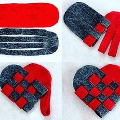 DIY Valentine's Day Gift - Felt Heart - Find Fun Art Projects to Do at Home and Arts and Crafts Ideas Diemer could even make blue and gold ones! Cute Valentines Day Ideas, Valentines Day Decorations, Valentine Day Crafts, Felt Roses, Heart Diy, Diy Gifts, Handmade Gifts, Handmade Bookmarks, Valentine's Day Diy