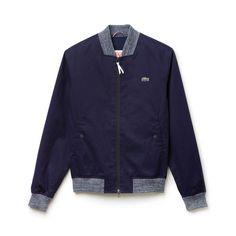 Zip-up cotton twill jacket