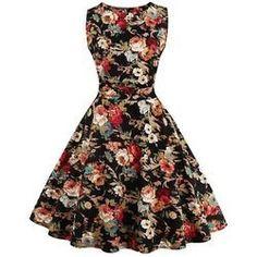 14.14$  Buy here - http://vijci.justgood.pw/vig/item.php?t=r1cnjr2191 - Stunning Jewel Neck Sleeveless Floral Print Dress For Women