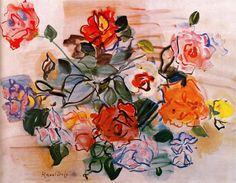 Pink bunch, 1940 -Raoul Dufy - by style - Naïve Art (Primitivism)