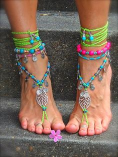 sandals on foot - The latest in Bohemian Fashion! These literally go viral!