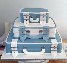 Designer Cake this but maybe books instead of suit cases for graduation