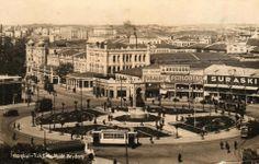 Hadi gelin yıl 1930'larda çekilmiş bu fotoğrafta Taksim'i tanıyın:-)) #ArşivDeşen
