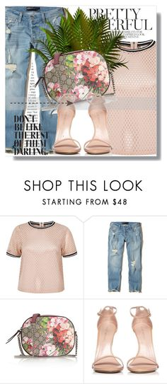"""""""Don't be like the rest!!!"""" by dianagrigoryan ❤ liked on Polyvore featuring River Island, Hollister Co., Gucci and Stuart Weitzman"""
