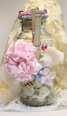 Shabby Chic Altered Bottle Tutorial