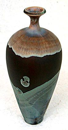 Ceramics by Peter Ilsley at Studiopottery.co.uk - Created in 2006, Reduced Copper Matt.