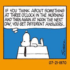 Words of Wisdom from Snoopy