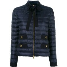 Moncler Pavottine jacket ($927) ❤ liked on Polyvore featuring outerwear, jackets, blue, zip front jacket, straight jacket, blue jackets, stand up collar jacket and waterproof jacket