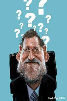 Caricatura de Mariano Rajoy.