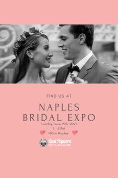 Join us at the Naples Bridal Expo! #weddings #bridalexpo #naplesbridalexpo #weddings #floridaweddings #florida Popcorn Company, Best Popcorn, Third Street, Naples Florida, Wedding Show, Social Events, Join, Weddings, Bridal