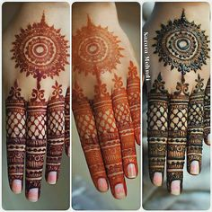 "Sarara Mehndi Artist ( ""The gorgeous stages of natural mehndi ♥ I have so many backlogged bridal uploads to come, but I…"" Round Mehndi Design, Mehndi Designs 2018, Modern Mehndi Designs, Mehndi Designs For Girls, Mehndi Design Photos, Wedding Mehndi Designs, Mehndi Designs For Fingers, Dulhan Mehndi Designs, Mehndi Designs Book"