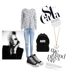 """""""Bez naslova #5"""" by nermina-hasic ❤ liked on Polyvore featuring moda, H&M, Converse i Minor Obsessions"""