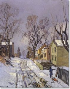 """Center Bridge P.A. 1917"" by Edward Willis Redfield"
