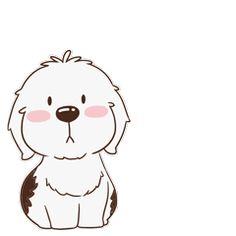 16 Super cute dog emoji gifs brings you joy Animiertes Gif, Animated Gif, Cartoon Wallpaper, Cartoon Pics, Cute Cartoon, Pictures To Draw, Cute Pictures, Dog Emoji, Super Cute Dogs