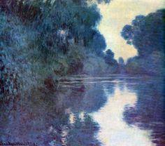 Reproduction de Monet, Bras de la Seine a Giverny. Tableau peint à la main dans nos ateliers. Peinture à l'huile sur toile.