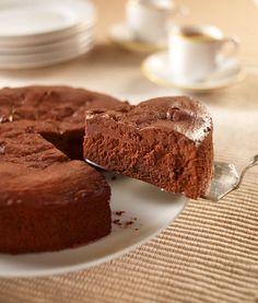 Pastel de chocolate con queso