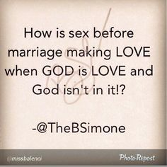 Sexually abstinent before marriage