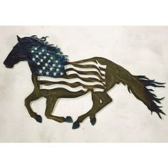 Americana Horse Metal Wall Art - Horse Themed Gifts, Clothing, Jewelry & Accessories all for Horse Lovers