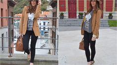 Look casual con blazer camel y zapatos de leopardo, ¡nos encanta!
