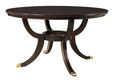 [+2] MacKenzie-Dow Fine Furniture Piccadilly Dining Table, 48-Inch Diameter