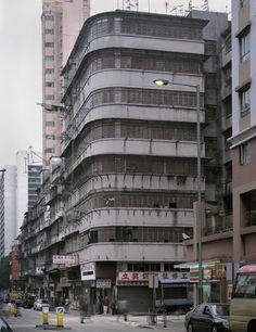 corner buildings in Hong Kong