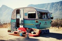 Cutest little baby caravan camper. Gypsy. Hippie.