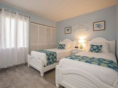 """Twin room with new memory foam mattresses and 32"""" SMART TV with BlueRay DVD"""