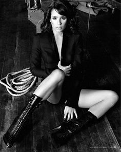 Lea Michele Marie Clare UK boots 2010